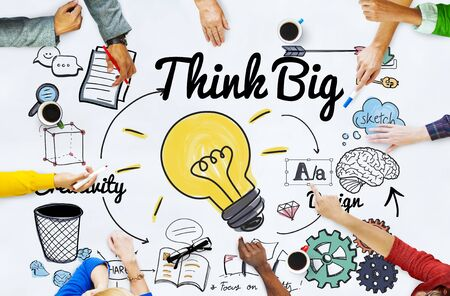 Think Big Faith Attitude Inspiratie Optimisme Concept