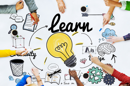 estudiar: Aprender Aprendizaje Educación conocimiento de la sabiduría Estudiar Concept