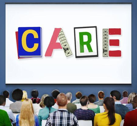 hearing protection: Care Assurance Protection Help Charity Security Concept