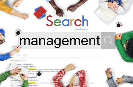 managing: Management Organization Managing Controlling Concept Stock Photo