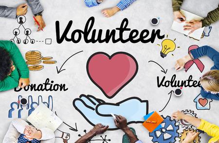 welfare: Volunteer Donation Welfare Helping Hand Concept Stock Photo