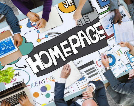 Business planning with homepage concept