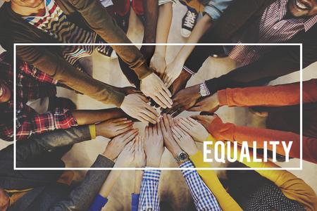 discriminacion: Igualdad Amigos Comunidad Equipo Fair Concept