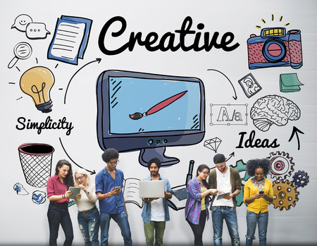 young group: Creative Ideas Design Imagination Inspiration Style Concept