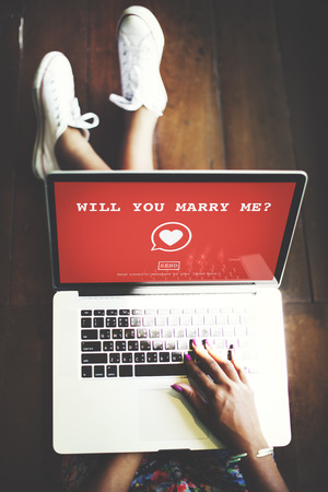 married: Will You Marry Me? Valantine Romance Heart Love Passion Concept