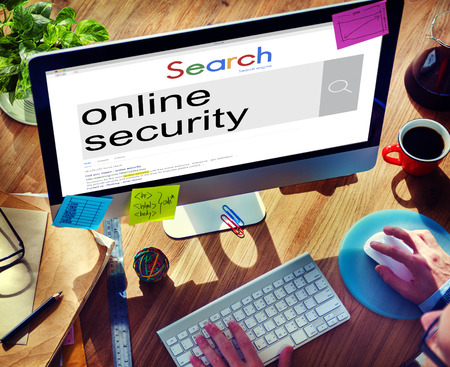 security technology: Online Security Protection Safety Technology Concept