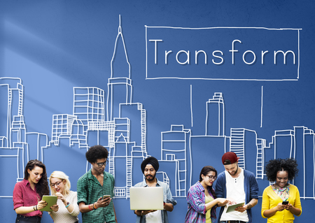 Transform Transformation Change Evolution Concept Banco de Imagens