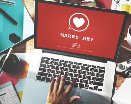 marry: Marry Me? Valantine Romance Heart Love Passion Concept Stock Photo