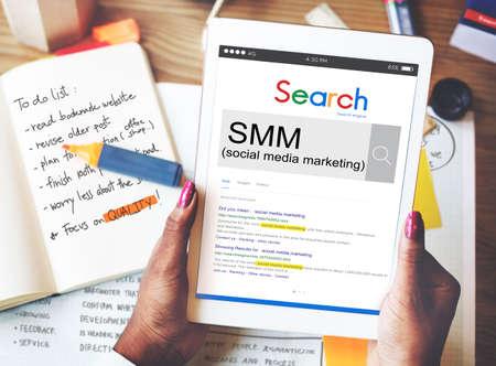 smm: SMM Social Media Marketing Advertising Online Business Concept