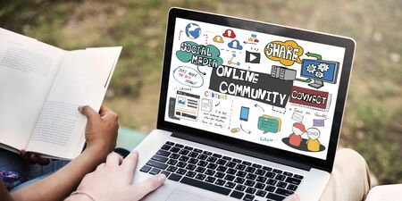 belonging: Online Community Social Networking Society Togetherness Concept