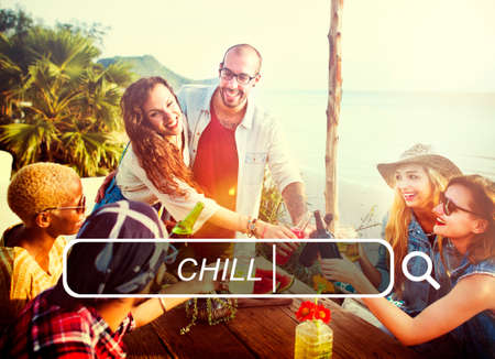 chill: Summer Friendship Beach Vacation Chill Concept
