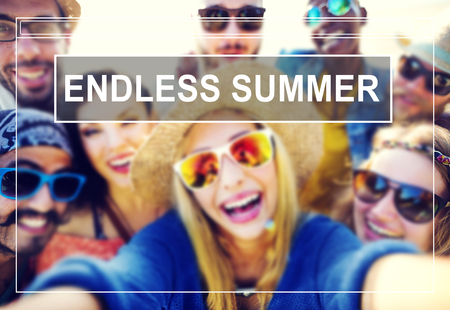 endless: Endless Summer Beach Friendship Holiday Vacation Concept
