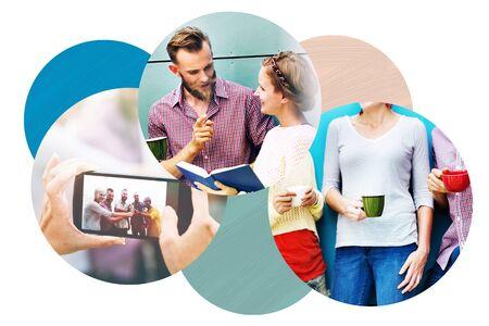 socializando: Team Socializing Discussion Communication Activity Concept