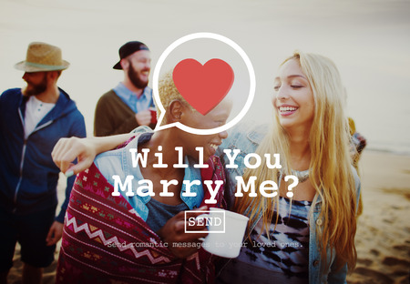 bebes niñas: Will You Marry Me Concepto Dating Valentine Romance del amor del corazón