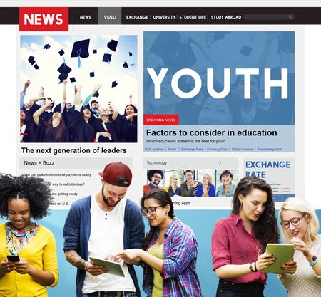culture school: Youth Culture Young Adult Generation Lifestyle Concept Stock Photo