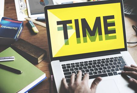 business time: Time Management Punctual Duration Schedule Concept