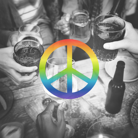 disarm: Peace Freedom Hope Pacifist Spiritual Love Concept Stock Photo