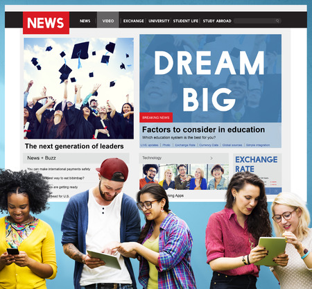 college education: Dream Big Dreaming Dream Believe Goal Hopeful Concept Stock Photo