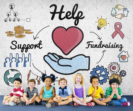 Aiuto Supporto Raccolta fondi Donazioni di beneficenza Concetto