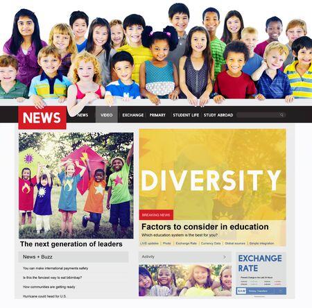 niños de diferentes razas: Diversidad Variación Sociedad surtido de diverso concepto