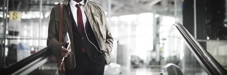 Businessman commuting to work Banco de Imagens - 109217463