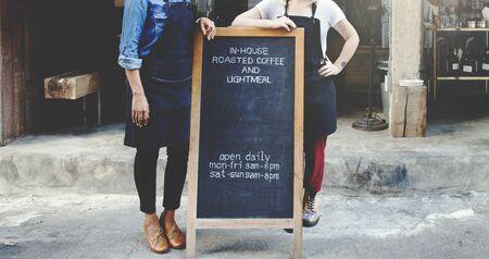 bistro: Cafeteria Barista Waitress Contemporary Bistro Concept