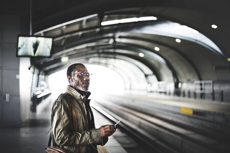 playlist: Platform Waiting Train Earphone Playlist Music Concept