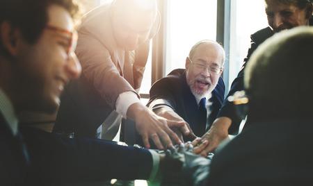 Business-Team Support Join Hands-Konzept Standard-Bild