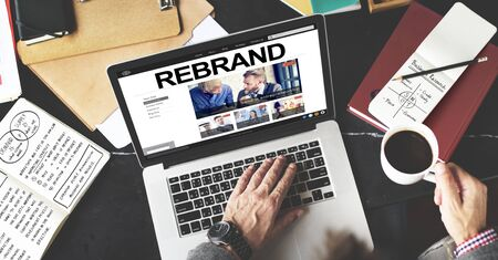 differentiate: Rebrand Strategy Marketing Image Corporate Brand Concept Stock Photo