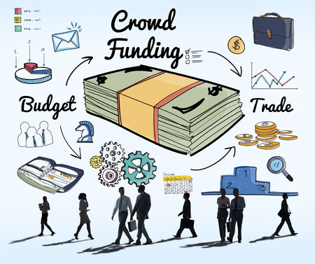 fundraising: Crowd Funding Fundraising Financial Investment Support Concept
