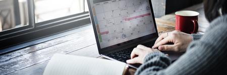 Planista Organizator Data Wydarzenia Harmonogram Praca Zdjęcie Seryjne