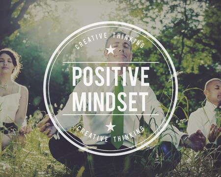 conscious: Positive Mindset Choice Thinking Conscious Focus Concept