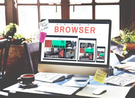 web browser: Browser Search Engine Browsing Web Page Technology Concept