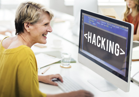 Hacking Software HTML Cyberspace Coding Concept Stock Photo