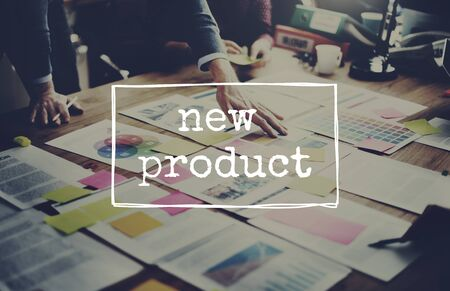 newness: New Product Arrival Promotion Marketing Advertising Concept