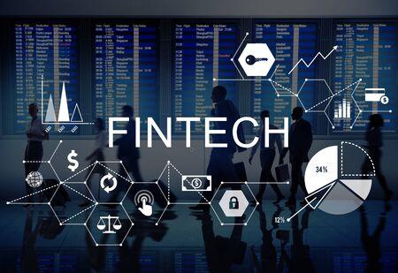 Fintech Investment Financial Internet Technology Concept Reklamní fotografie