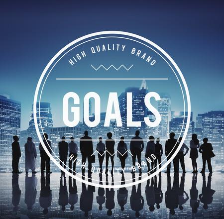 man business oriented: Goals Mission Hopeful Success Aim Concept