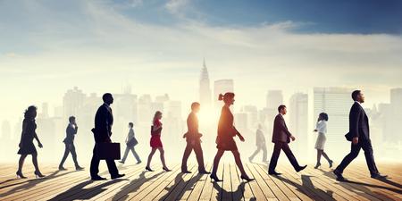 Business People Commuter Cityscape Team Concept Stok Fotoğraf