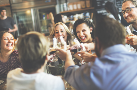 party people: Dinner Dining Wine Cheers Party Concept