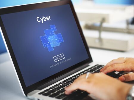 cyberspace: Cyber Cyberspace Connection Globalization Technology Concept Stock Photo