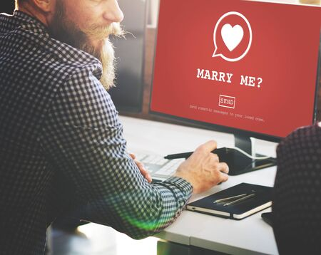 marry me: Marry Me? Valantine Romance Heart Love Passion Concept Stock Photo