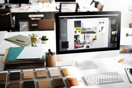 Design Studio Créativité Idée Bois Palette Décoration Concept Banque d'images