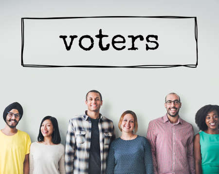 voters: Vote Voters Election Option Word Box Concept Stock Photo