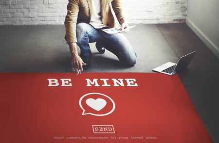 dating strategy: Be Mine Valantine Romance Heart Love Passion Concept