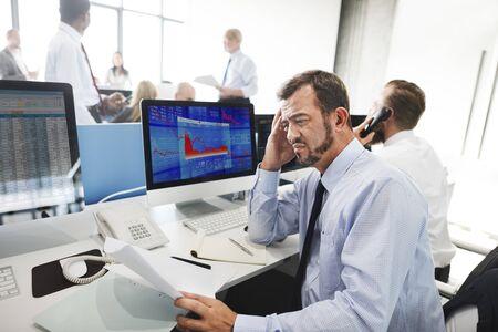 unsuccessful: Businessman Stress Failed Unsuccessful Stock Concept