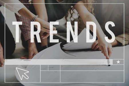 trending: Trends Style Trending Modern Fashion Forecast Concept