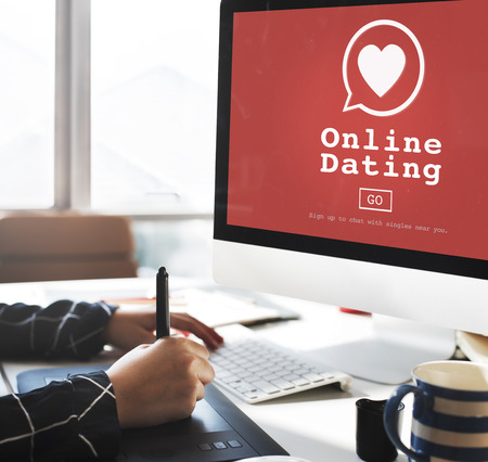 matchmaking: Online Dating Digital Matchmaking Technology Concept Stock Photo
