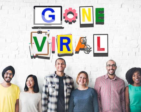gone: Gone Viral Views Popular Trending Concept