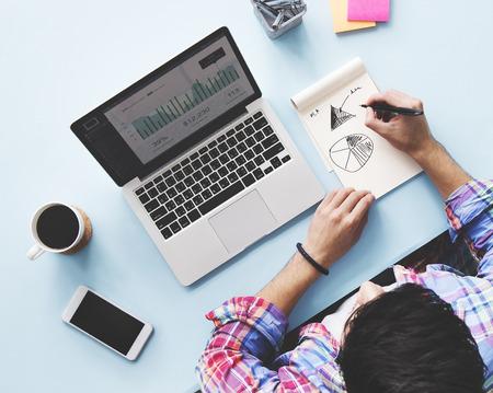 Computer Laptop Research Bureau Concept