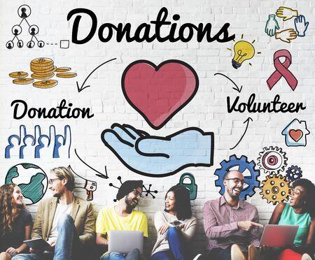 welfare: Donations Volunteer Charity Heart Welfare Concept